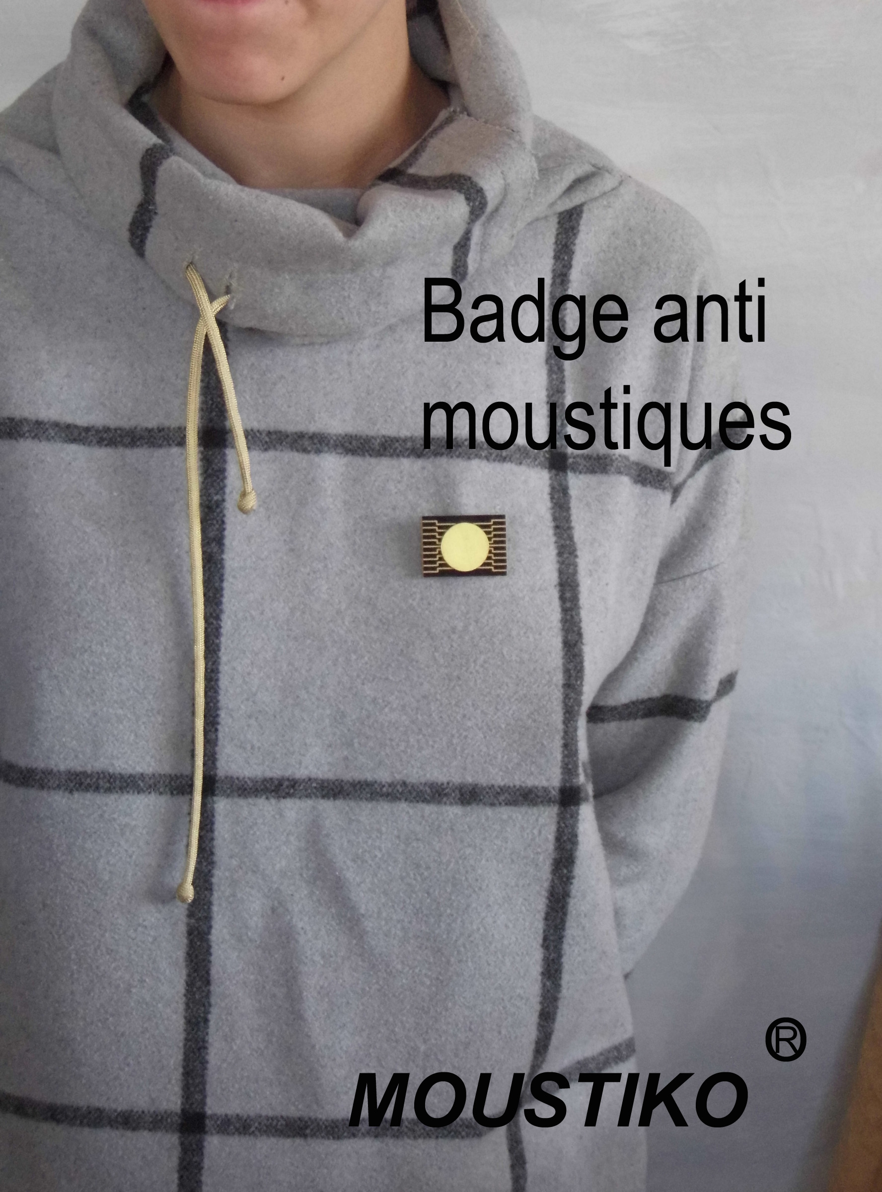 Badge anti moustiques électronique non polluant sans produit chimique electrónico ecológico inodoro contra insignia Electronic mosquito environmentally friendly anti badge odorless