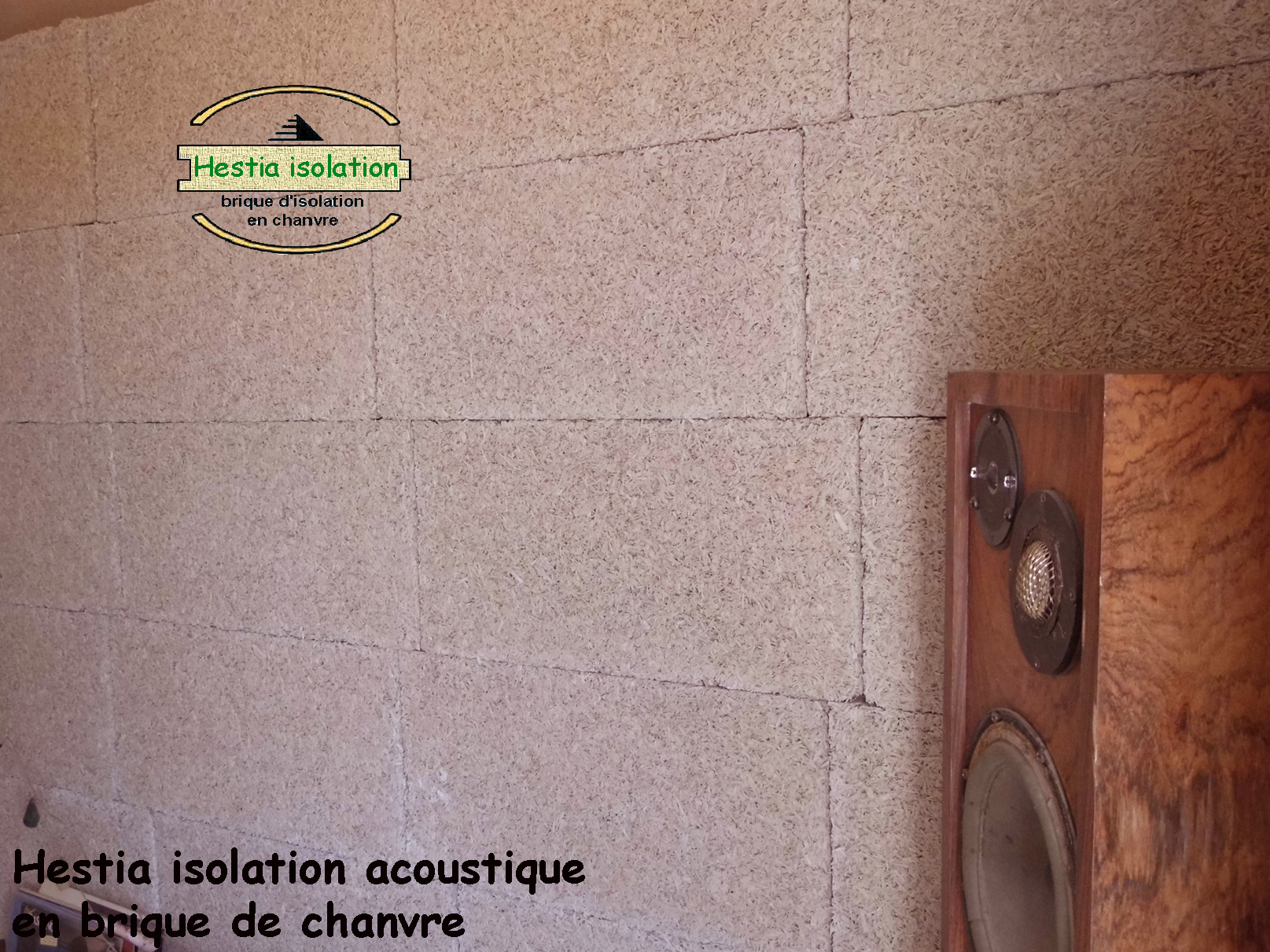 Hestia acoustique isolant absorbeur en chanvre