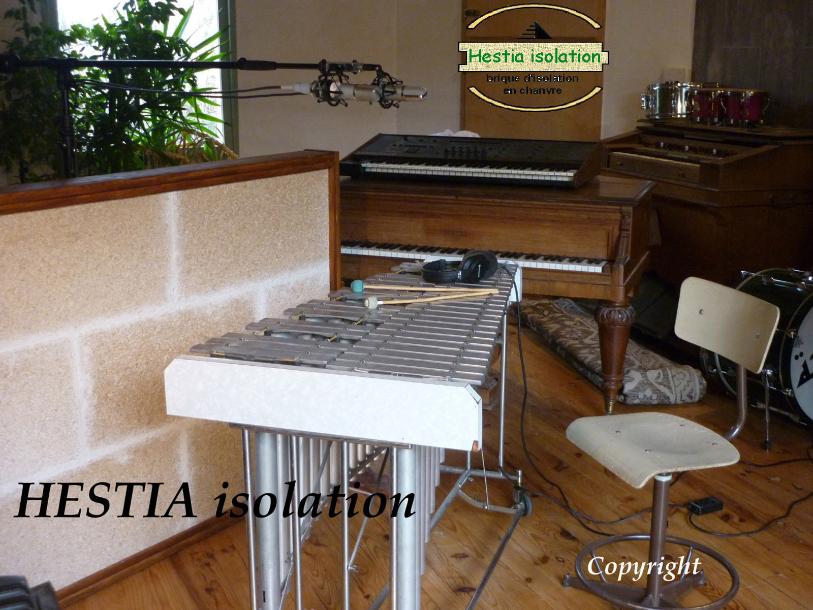 hestia Hestia insulation hemp brick insulation acoustic & thermal quality for studio recording room music concert repetition absorption sound