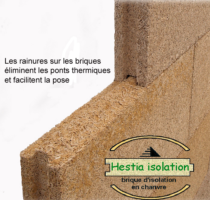 Hestia isolation brique de chanvre insulation hemp brick insulation acoustic & thermal quality for studio recording room music concert repetition absorption sound