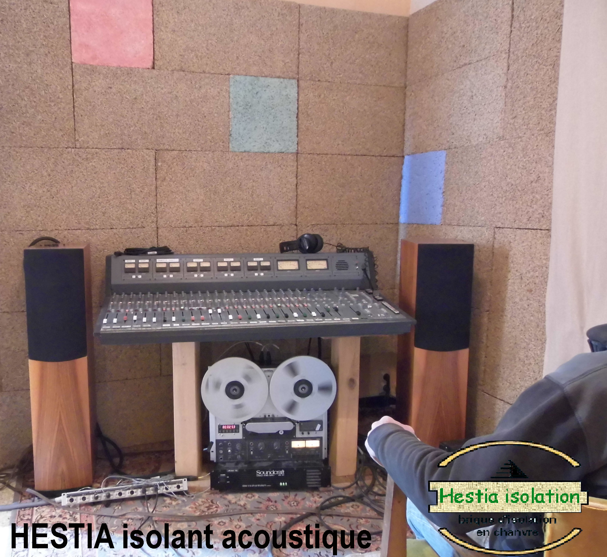 acoustic treatment sound insulation insulation hemp brick block panels tiles panel tile hestia absorption musical room concert rehearsal drums sax piano violin guitar